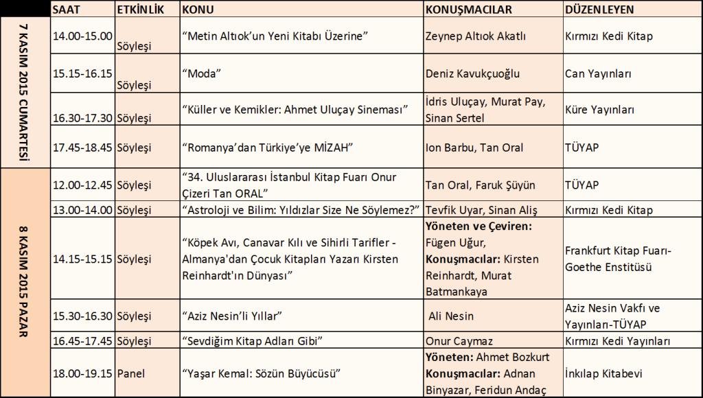 Tüyap Kınalıada salonu etkinlikleri