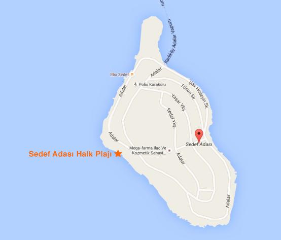 Sedef Adası Halk Plajı ulaşım