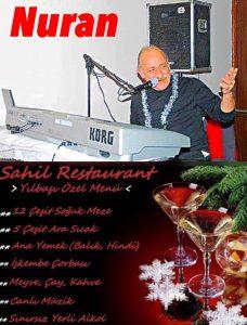 Burgazada Sahil Restoran yılbaşı