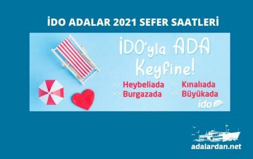 İDO Adalar 2021 Sefer Saatleri